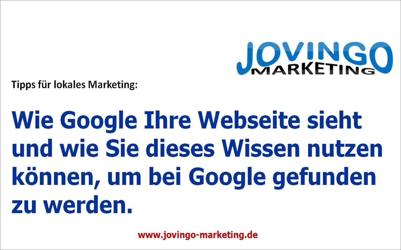 Google Places Lokale Marketing Tipps - Wie Google Ihre Webseite sieht