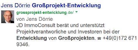Jens Dörrie mit Bild in Suchergebnissen
